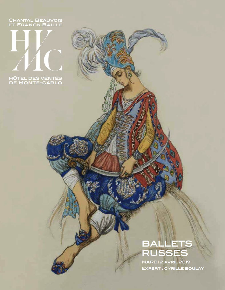 Affiche. Monaco. Cyrille Boulay. Russian Ballets Sale. 2019-04-02