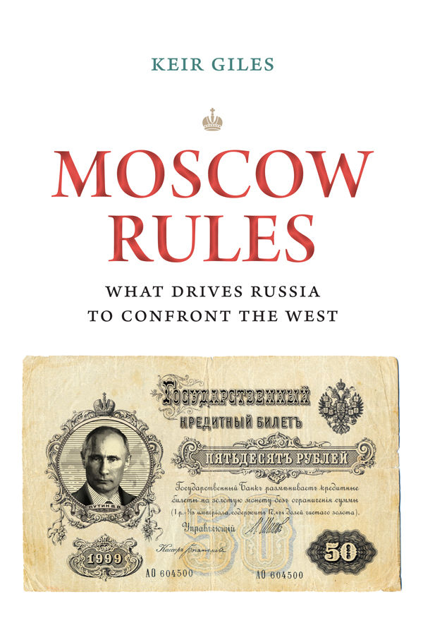 Couverture. Chatham House. Moscow Rules. What Drives Russia to Confront the West, by de Keir Giles. 2019-09-09