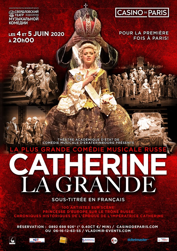 Illustration.  Casino de Paris. Catherine La Grande. Princesse d|Europe sur le trône russe. 2020-06-04